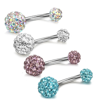 Charming Multi Crystal Bling Navel Belly Button Ring Body Piercing Jewelry