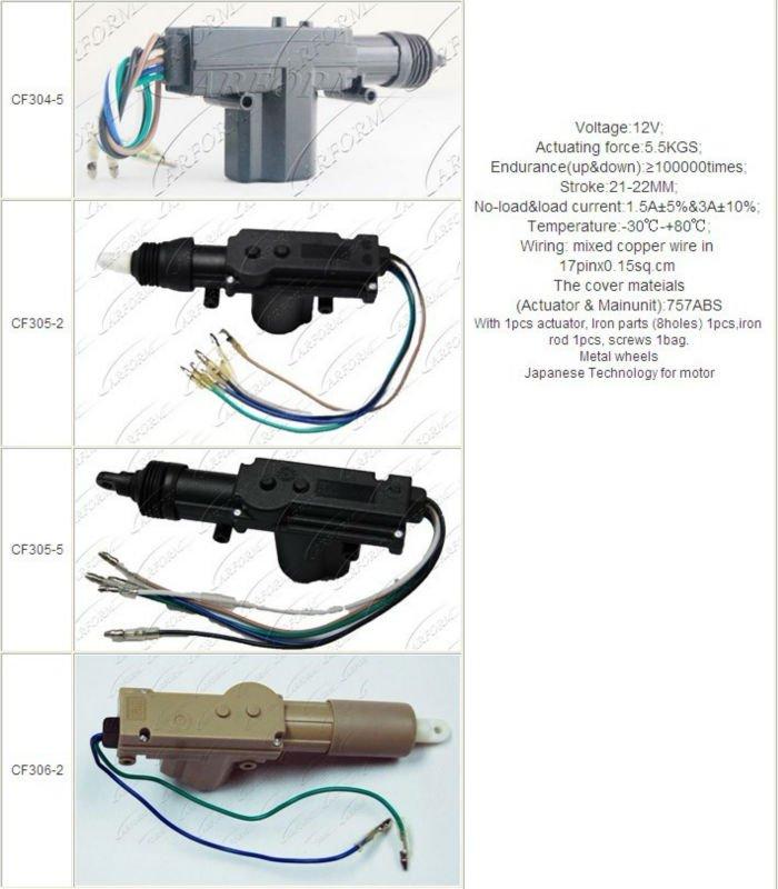 5 Wires Master Motor Central Power Door Lock Actuator - Buy 5 Wire ...