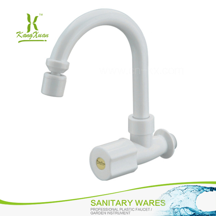 plastic single handle wall mounted kitchen faucet with