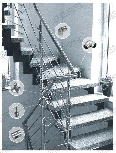 Metal Wire Deck Railing / Railing Tangga Stainless Steel Harga ...