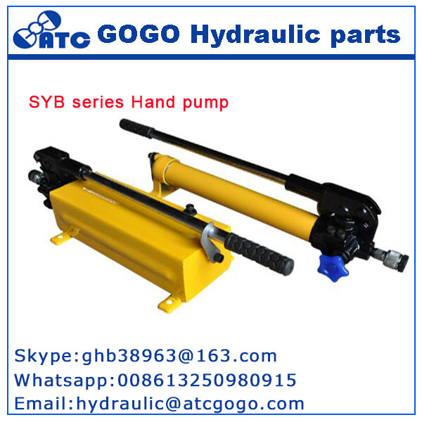 Manual hydraulic pump SYB series ,hand-cranked hydraulic pump ,high-pressure oil pump