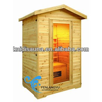 2person outdoor infrared sauna cabin (KD-5002H)