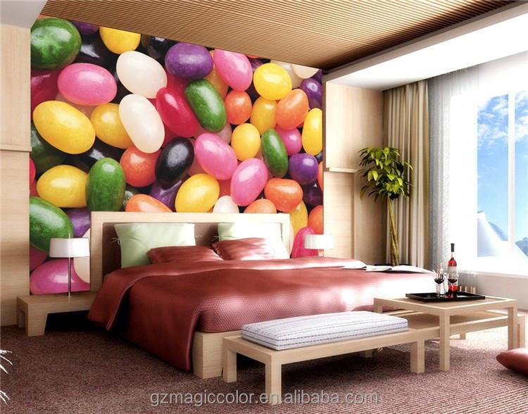 Behangpapier Slaapkamer D : Slaapkamer behangpapier kleurrijke snoep ...
