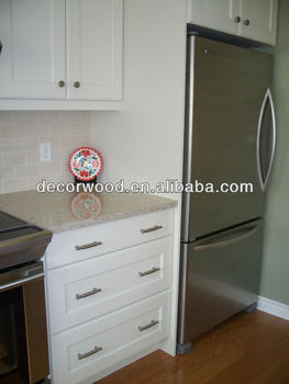 3 Drawers White Wooden Kitchen Base Cabinet - Buy 3 Drawers ...