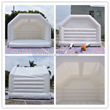 white wedding bouncy castle used party jumpers for sale