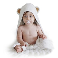 Luxury Bamboo Baby Hooded Towel & Washcloth with ear