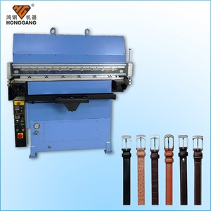 embossing machine for leather belts