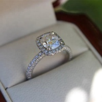 Classic Lovers Promise Ring CZ Stone Engagement Wedding band Rings For Women Valentine's Day Gifts
