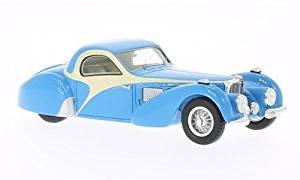 Bugatti T57 SC Atalante, light blue/beige , 1937, Model Car, Ready-made, Spark 1:43 by Bugatti