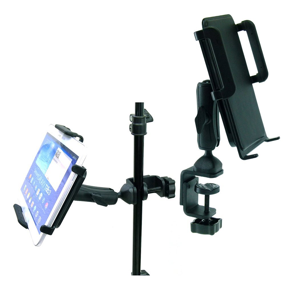 BuyBits Heavy Duty Adjustable C-Clamp Music Stand / Counter Top Mount for Samsung Galaxy Tab 3 (10.1)