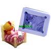 LZ0095 customized 3D sleeping baby bear shape FDA silicone crafts/candle molds
