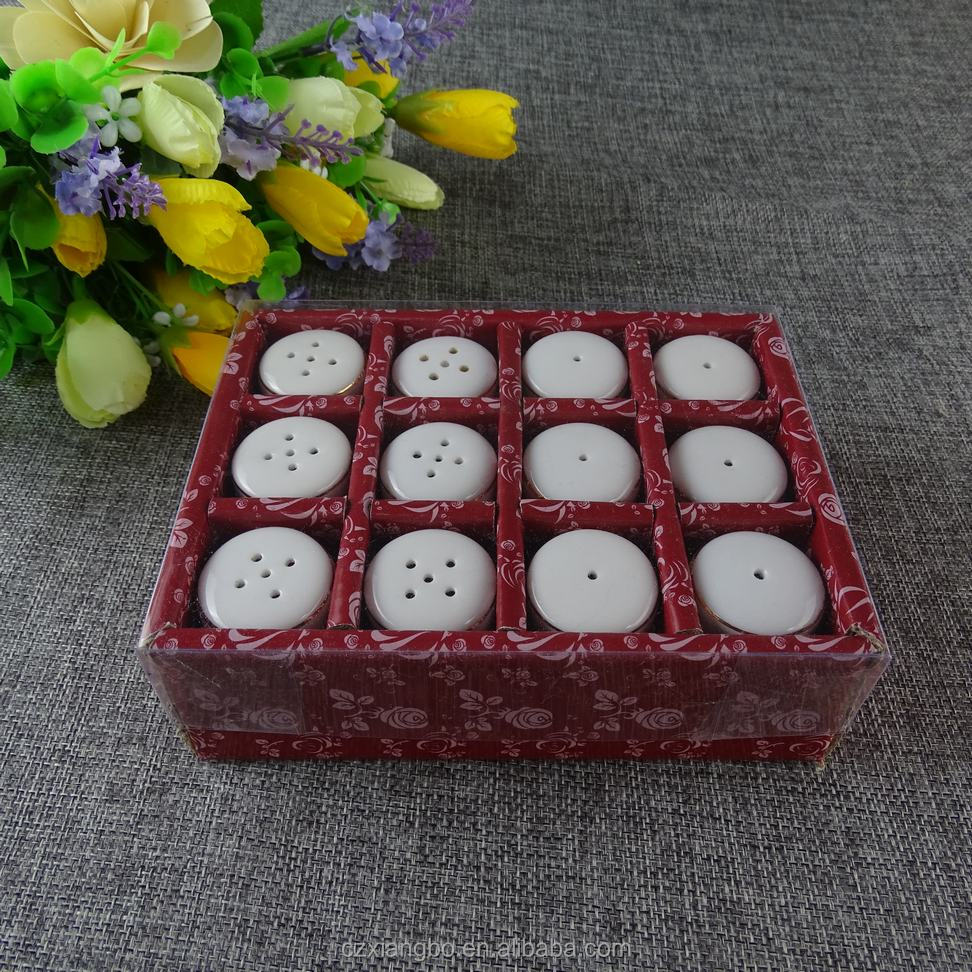 set of 12 pcs color box good quality new style ceremic Pepper Pot