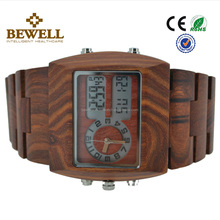 hand made wooden watches japan movt quartz sandalwood wood watch day and date display