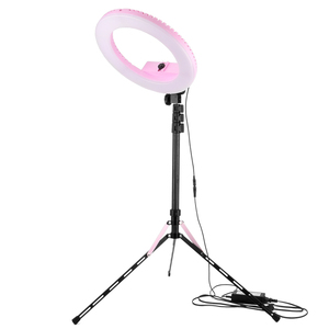 20W 14inch phone and led camera light studio with tripod makeup led photographic selfie circle ring light for Video
