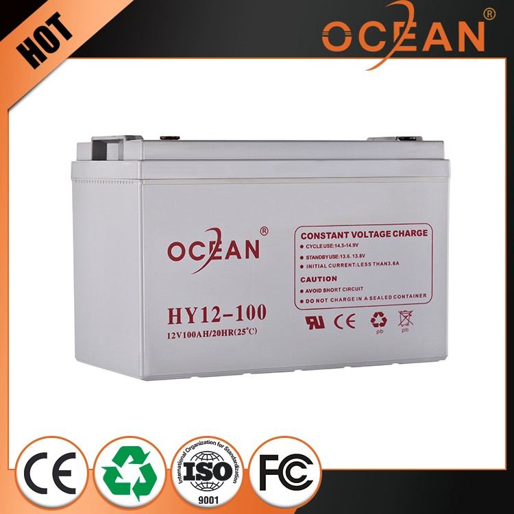 New style 12V 100ah powerful deft design OPZS solar battery