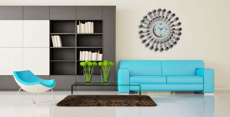 M2801 Metal Art Wall Clock For Living Room Decorative Buy Wall Clock Produc