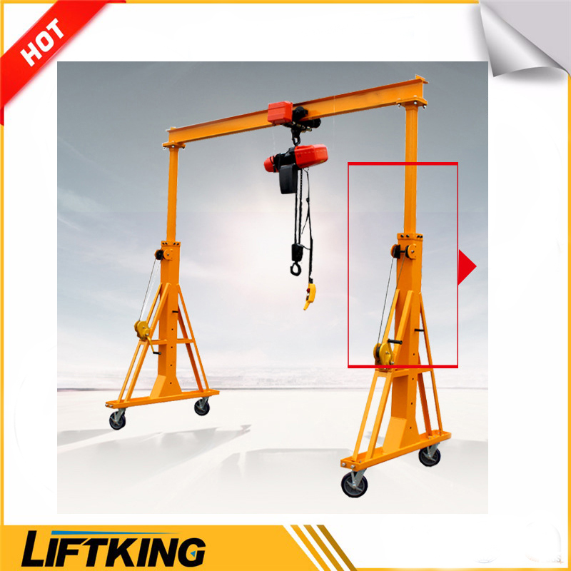 LIFTKING 1Ton to 5Ton Workshop UsagePortable a-frame gantry crane,outdoor mobile gantry crane