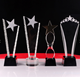 China crystal trophy,awardWholesale different shapes crystal glass trophy awards plaque with custom logo engraved logo