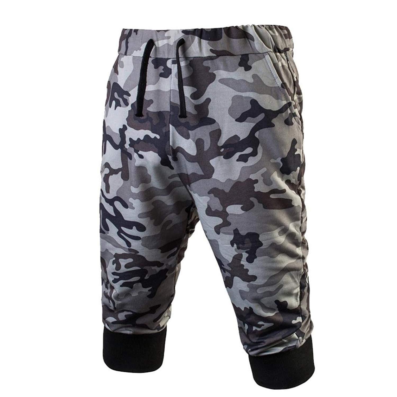 Ounice Men Gym Pants Camo,Men Fitness Jogging Pants Men's Casual Drawstring Shorts Elastic Stretchy Bodybuilding Sweatpants
