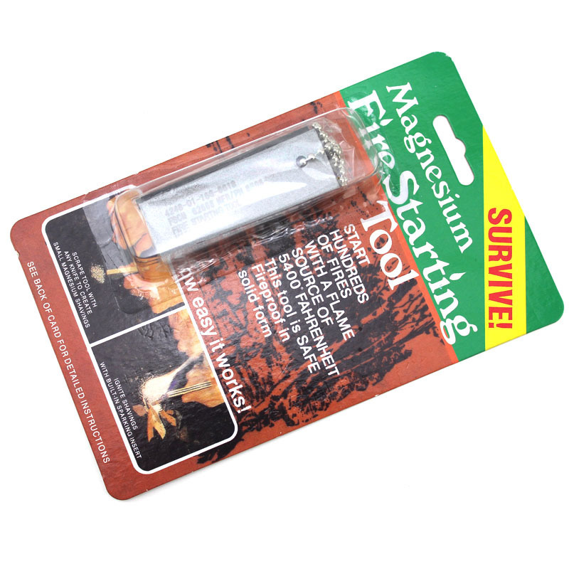 Cmart Camping Emergency Equipment Survival Firesteel Blocks Magnesium Flint Fire Starter with Striker