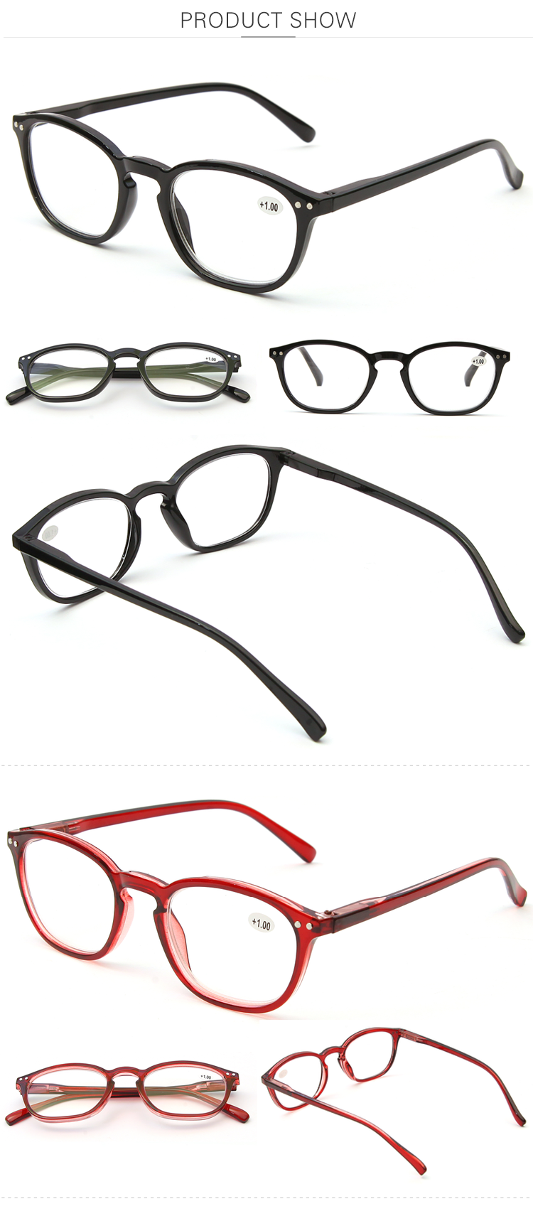 Presbyopic Dedicated Plastic Glasses Promotion Black Neutral Reading Eye Glasses