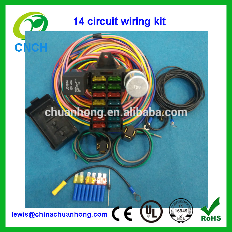 Remarkable Cnch14 Circuit Hotrod Wiring Kit Relay Fuse Box Panel Chevy Mopar Wiring Cloud Oideiuggs Outletorg