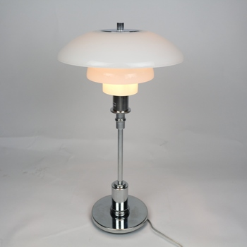 classic contemporary glass shade metal table lamp