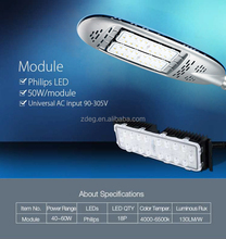 Aluminium body 100W led street light philips or sumsung led 10000lm/w IP67