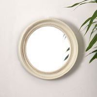 Injected classical decorative glass wall for home decoration large round plastic mirror