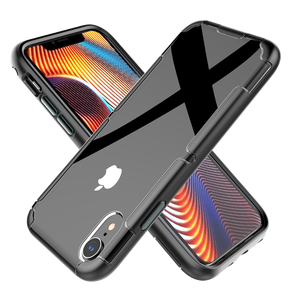 Custom Impact bumper Metal Button Mobile Phone Case for iPhone XR