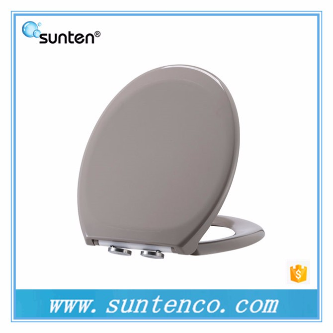 Urea Material Soft Closing Grey Wall Hanging Toilet Seat