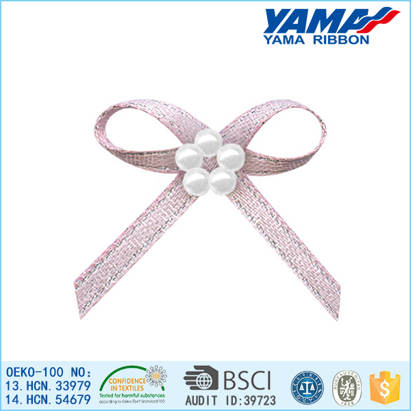 Highly popular eco-friendly gift packing pre tied ribbon bows