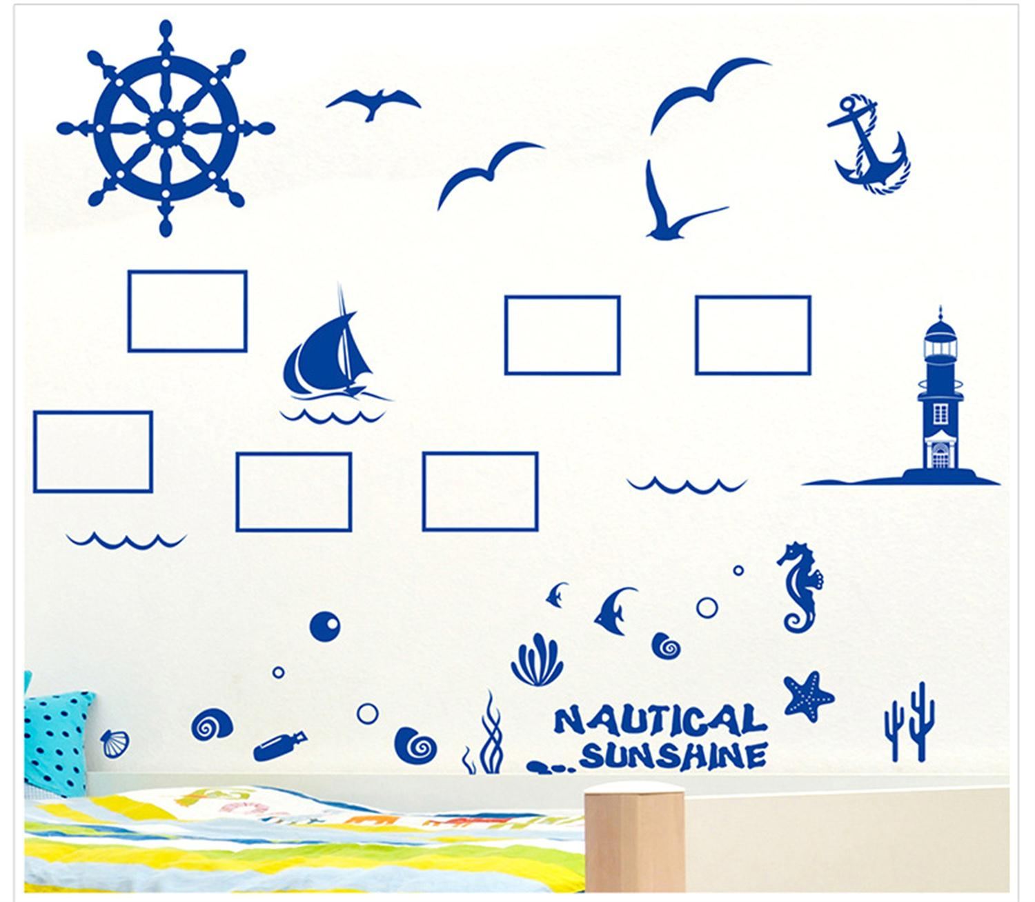 <font><b>Nautical</b></font> <font><b>Decor</b></font> Bird Room Decoration Fashion Removable Wallpaper Wall Stickers <font><b>Home</b></font> <font><b>Decor</b></font> Living Room Beautiful Diy Wall Decals