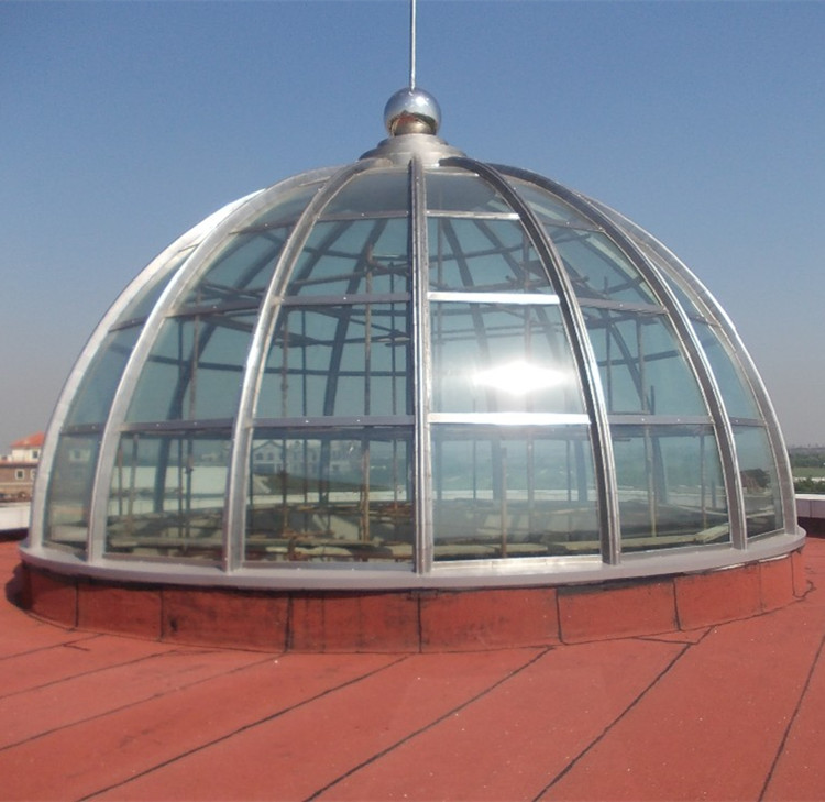 Light Steel Structure Space Frame Prefabricated Glass Dome