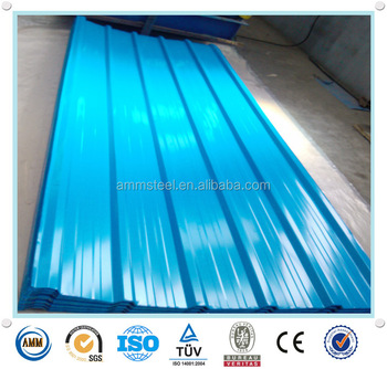 26gague Color Trapezoidal Roofing Sheet /29 Gauge Plain Galvanized Roof  Sheet/metal Roof Tile