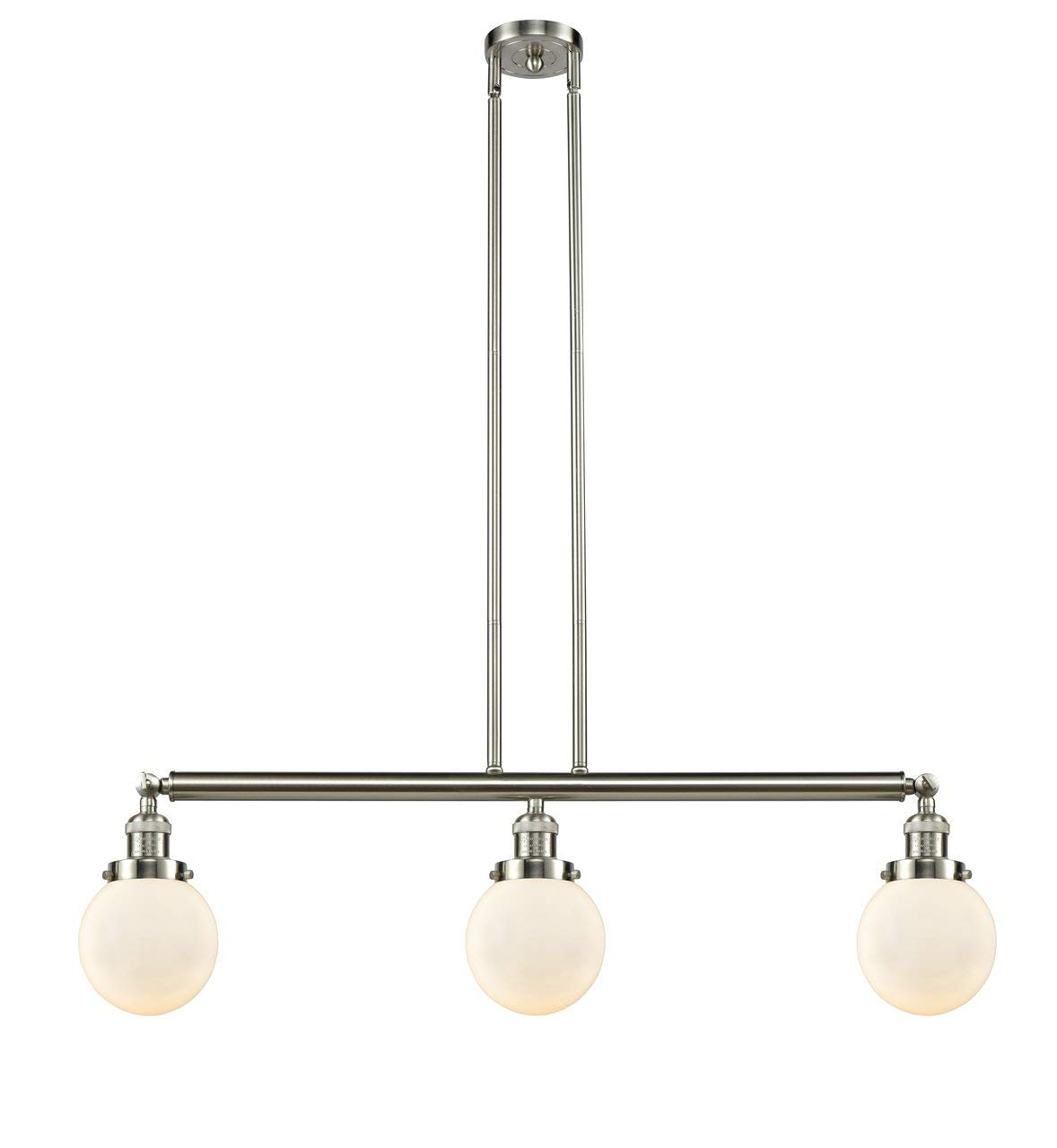 INNOVATIONS LIGHTING 213-SN-S-G201-6-LED 3 Light Vintage Dimmable LED Beacon 38 inch Island Light
