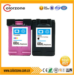 Factory wholesale compatible hp ink cartridge 650 for HP CZ101AE / CZ102AE