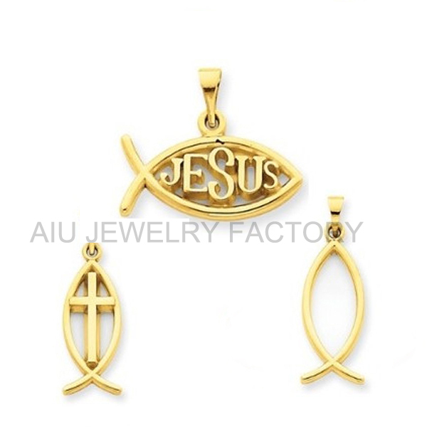 Yellow gold plated religous christian fish pendant buy christian yellow gold plated religous christian fish pendant aloadofball Images