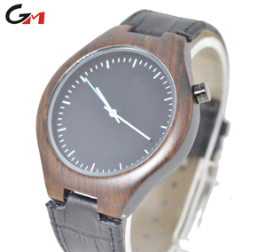 Handmade Wooden Unisex Classy and Casual Crocodile Print Strap Wrist Wood Watch