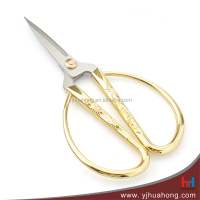Chinese style stainless steel household scissors, ribbon cutting ceremony scissors with alloy handle (HC-53)