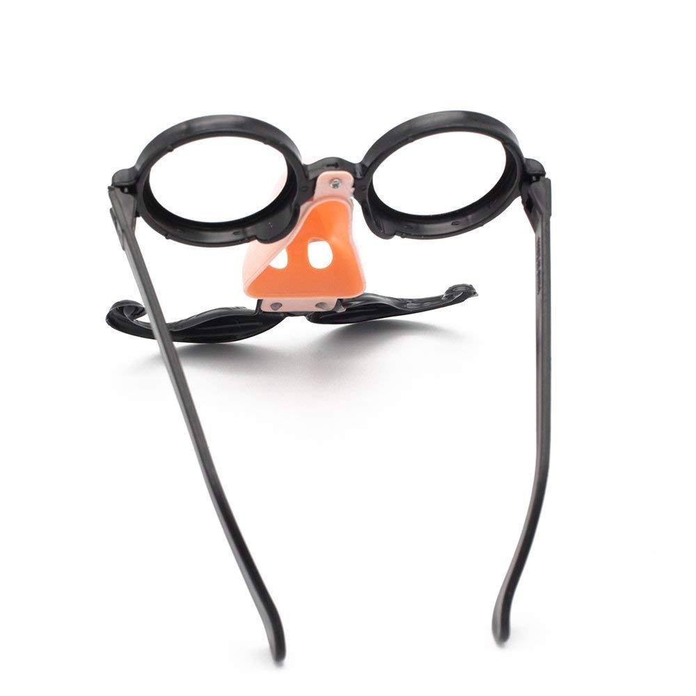 424d8ab416b Get Quotations · LOCHI Fake Nose Mustache Clown Fancy Dress up Costume  Props Fun Party Favor Glasses 1X