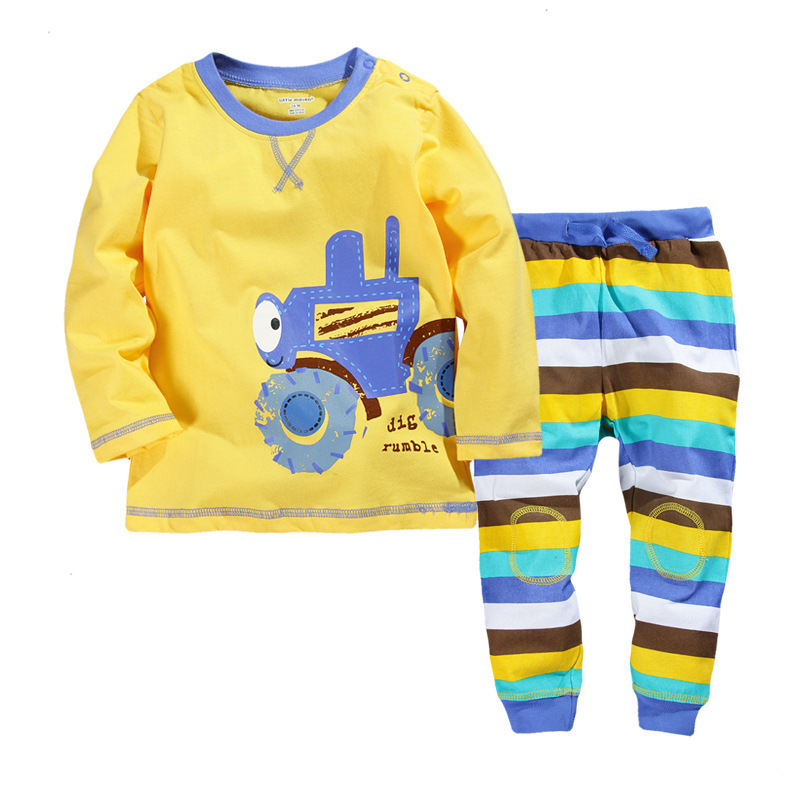 2015 Autumn Character Cotton Baby Boy Clothes Regular Boys Tracksuit Conjunto Infantil Spots Hot Carton Kids Boy Clothes