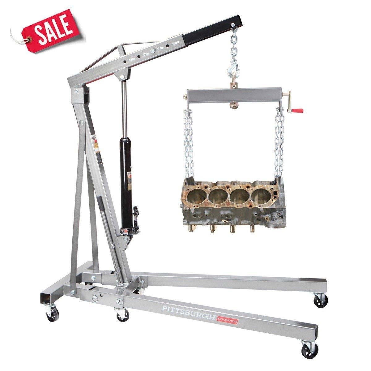 Motor Hoist Cherry Picker 1 Ton Engine Shop Crane Lift Foldable Durable - Skroutz