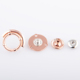Custom four parts spring magnetic metal snap buttons fastener for clothes