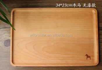 Vassoi In Legno Con Vetro : Wooden3 tazze di legno supporto del vassoio di vetro di colpo con