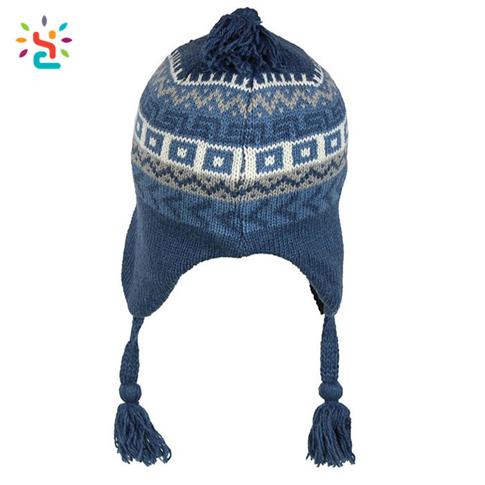 Custom earflap beanie ski hat free knit pattern for hat earflaps tassel  beanie man women winter 1871a1af40e