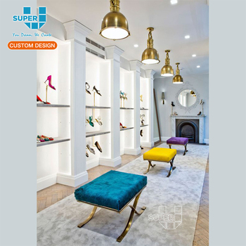 Shoe Shop Layout Equipment Seating Chairs Bench Furniture