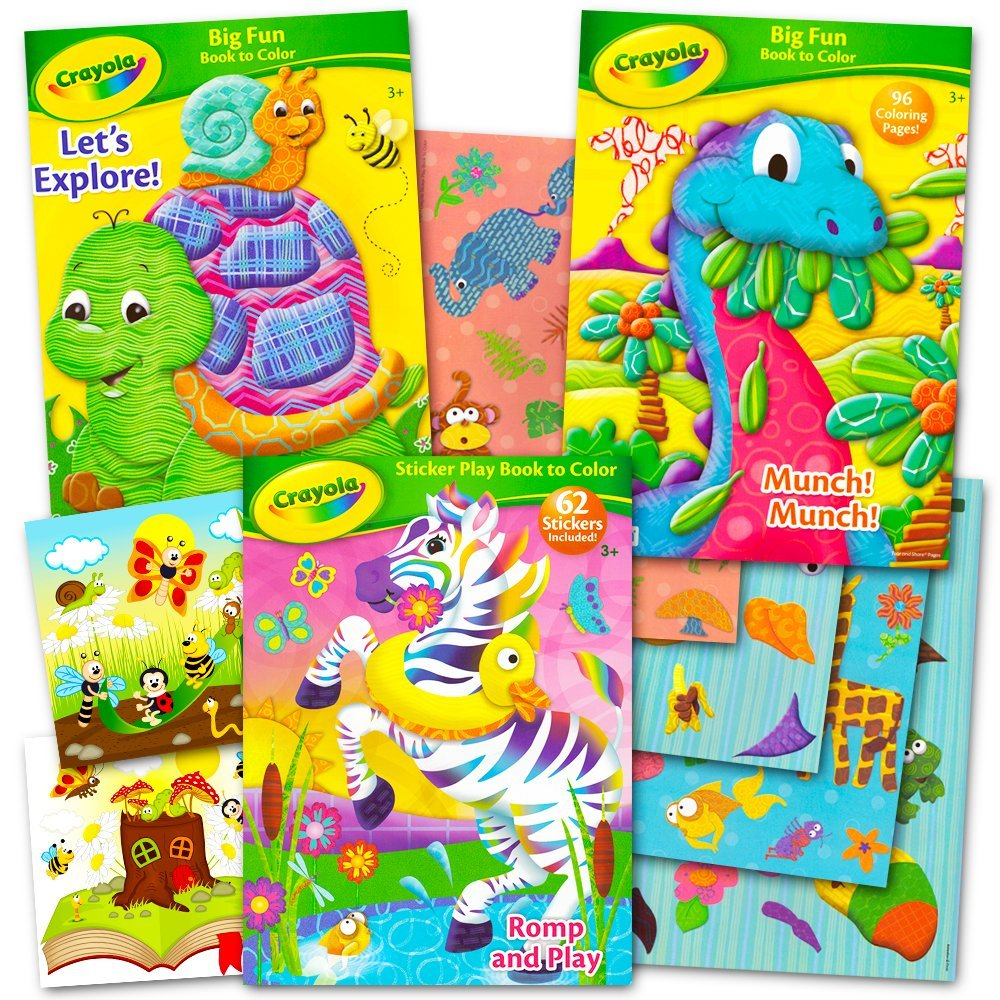 Buy Crayola Coloring and Activity Books Set with Stickers (3 ...