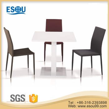 White High Gloss Wood Square Dining Table Used Cafeteria Furniture - White high gloss dining table