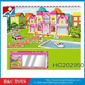 baby toy Kids educational baby building blocks toy villa,Block toy HC202950